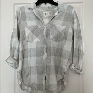 Quarter Sleeve Nude Flannel